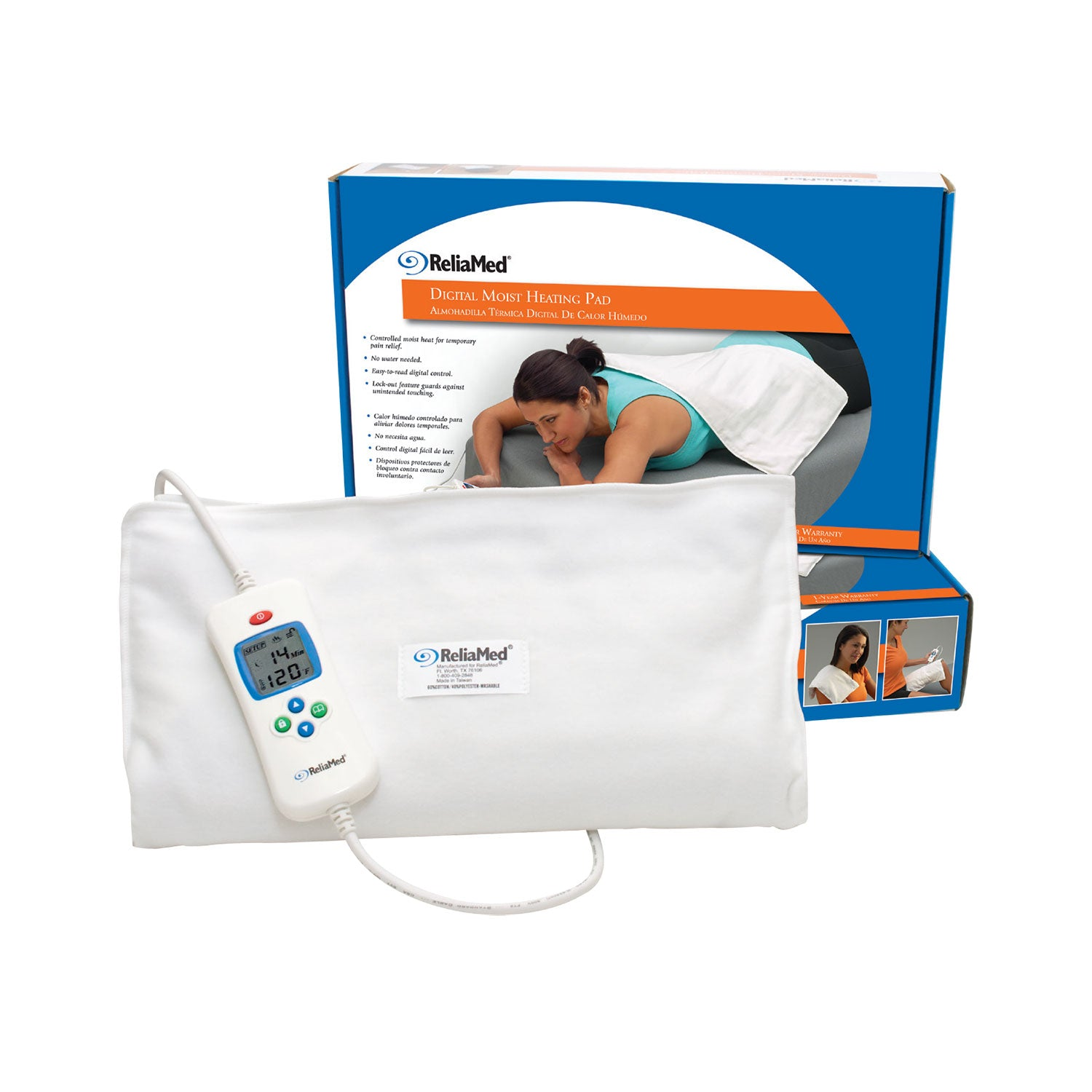 ReliaMed® Digital Moist Heating Pad - enabled simple
