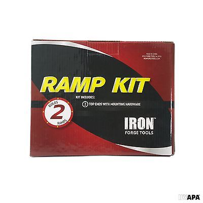 Iron Forge Tools Ramp Kit with Hardware - Strong Aluminum - Great for Loading...