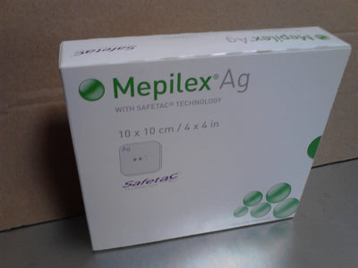"Mepilex Ag Antimicrobial Absorbent Foam Dressing - 4"" x 4"" - 287100 - Box of 5"