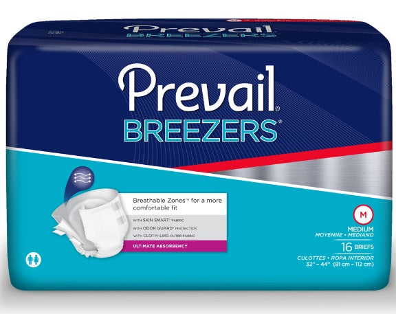 Prevail Breezers Adult Briefs (Medium, Pack of 16)