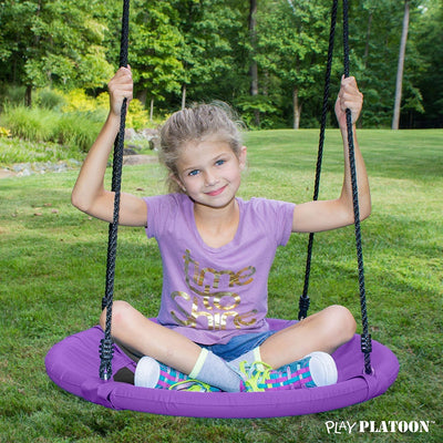 Flying Saucer Tree Swing for Swingset Playset, Purple, 400 lb Weight Capacity