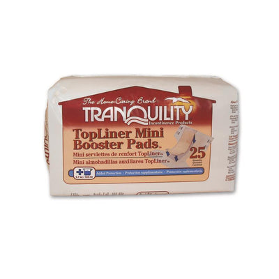 Tranquility Topliner Mini Booster Pads for Incontinence Pack of 25