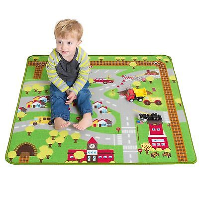 "Kids Play Car Rug - Community Carpet Mat Regular, 39"" x 35"""