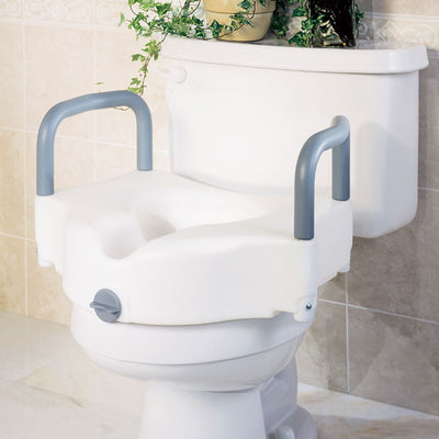 Medline Locking Raised Toilet Seat (with Arms)