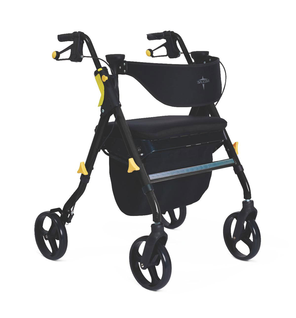 Medline Empower Deluxe Rollator - Silver