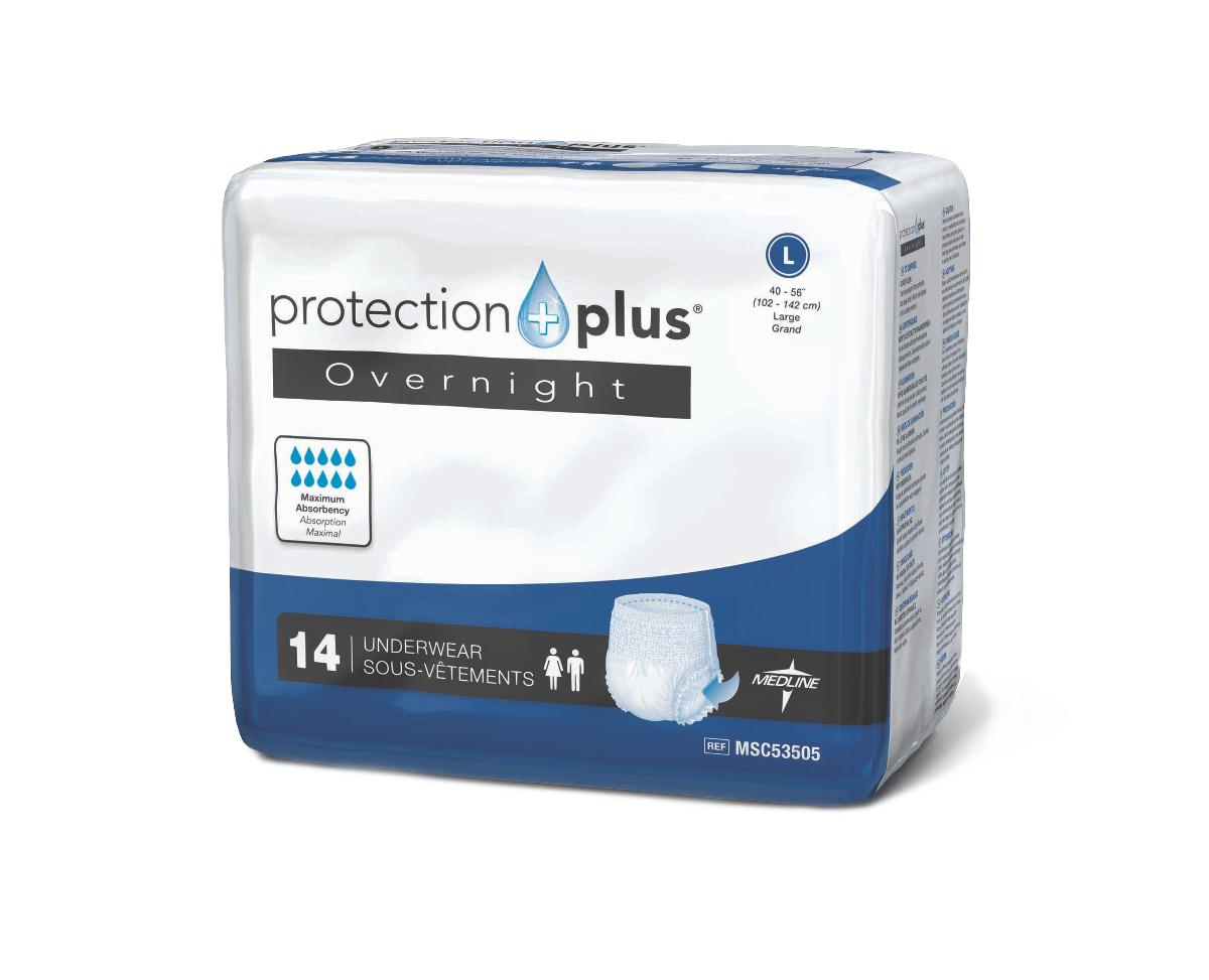 Protection Plus Extended Capacity Underwear (Extra, Large, Pack of 14)