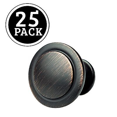 Oil Rubbed Bronze Kitchen Cabinet Knobs - 1 1/4 Inch Round Drawer Handles - 2...