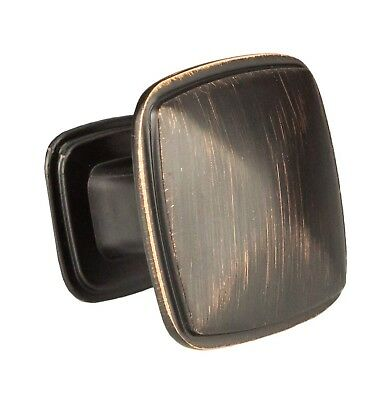Oil Rubbed Bronze Square Kitchen Cabinet Knobs - 10 Pack of Drawer Handles Ha...
