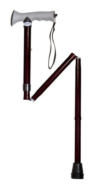 Drive Adjustable Folding Cane with Gel Grip