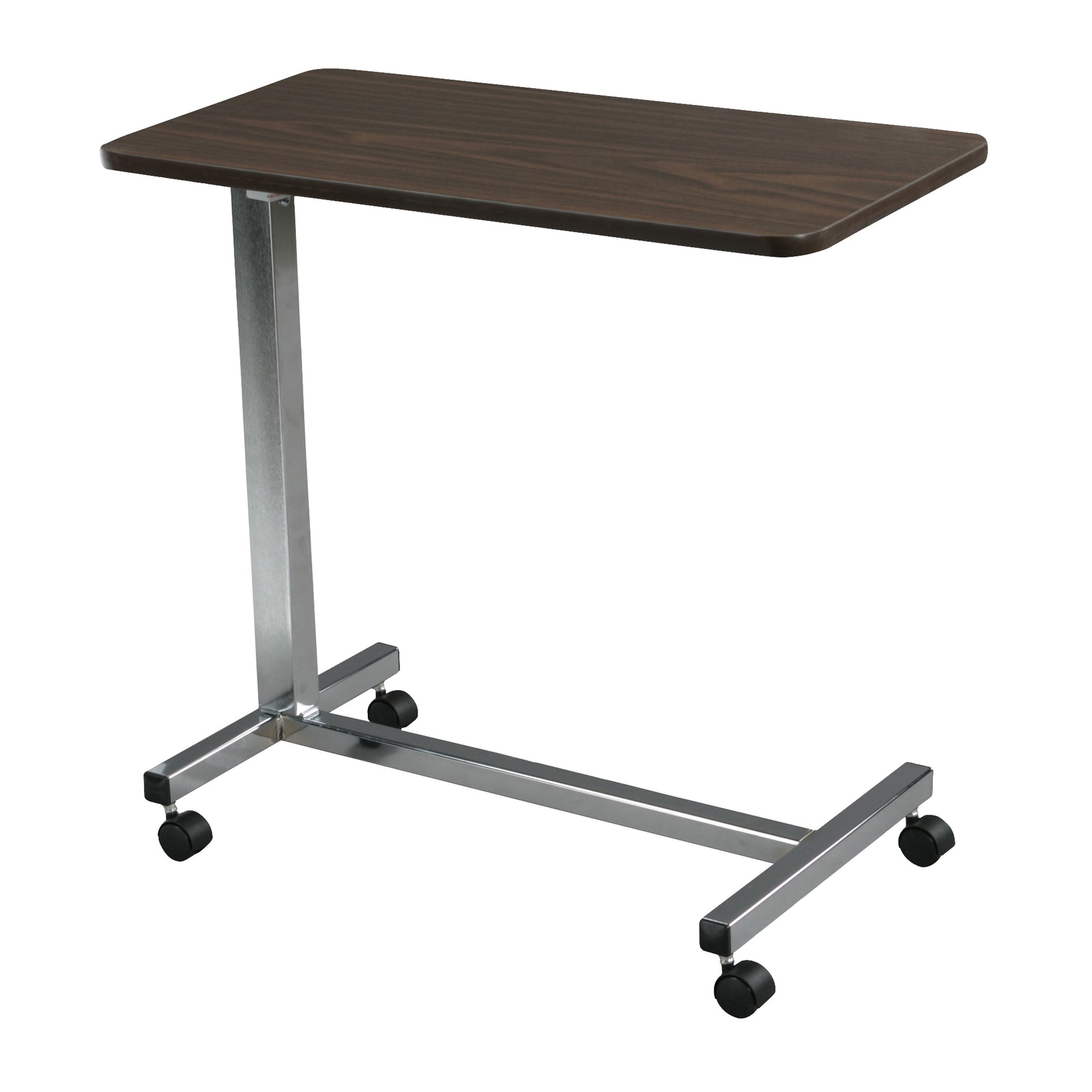 Non-Tilt Overbed Table, Silver Vein Base and Mast