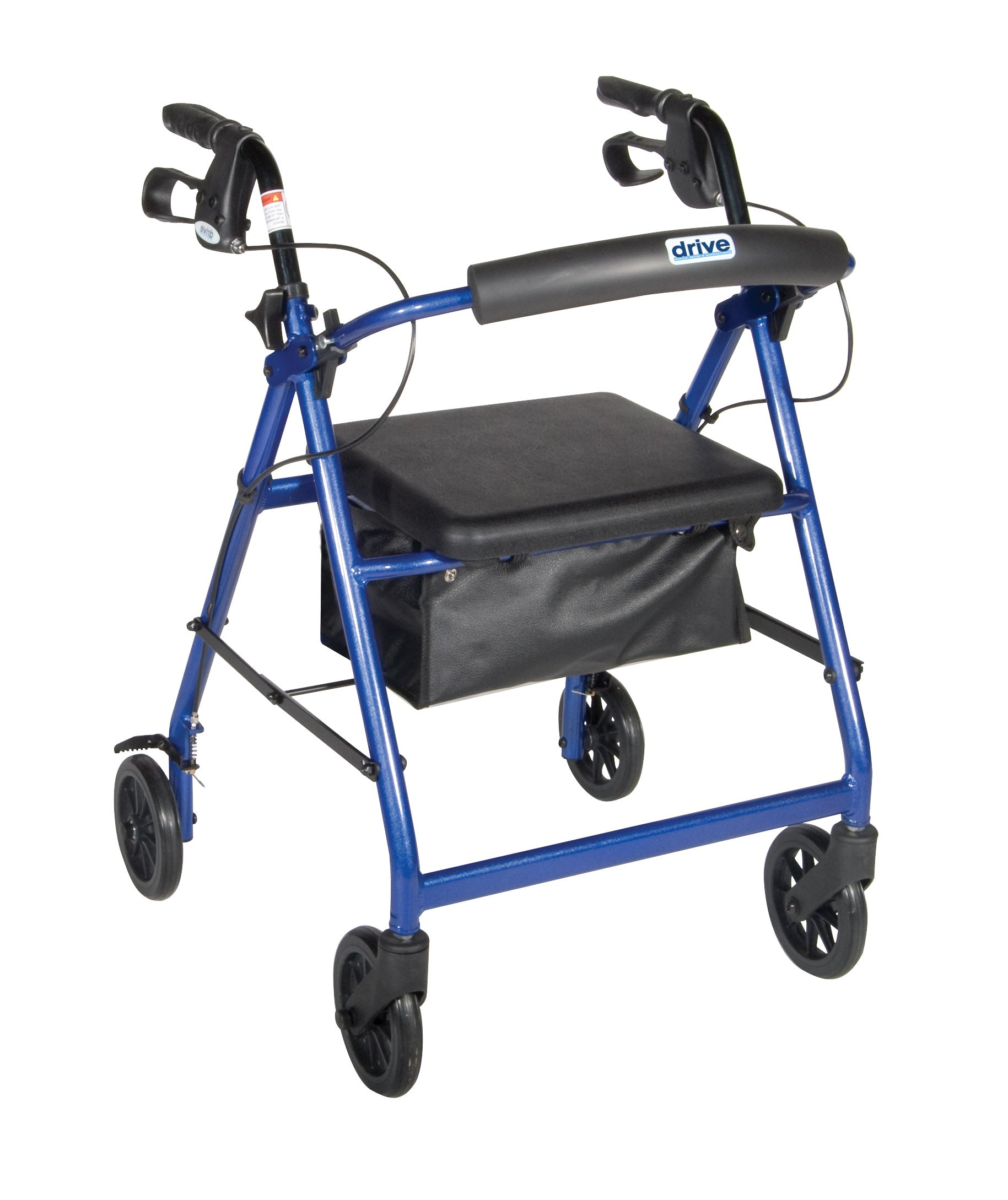 Drive Aluminum Rollator - 6in Casters w/ Loop Locks (Blue) - Open Box but Unused