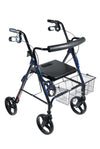 Drive D-Lite Aluminum Rollator Walker with 8in; Wheels and Loop Brakes (Black)
