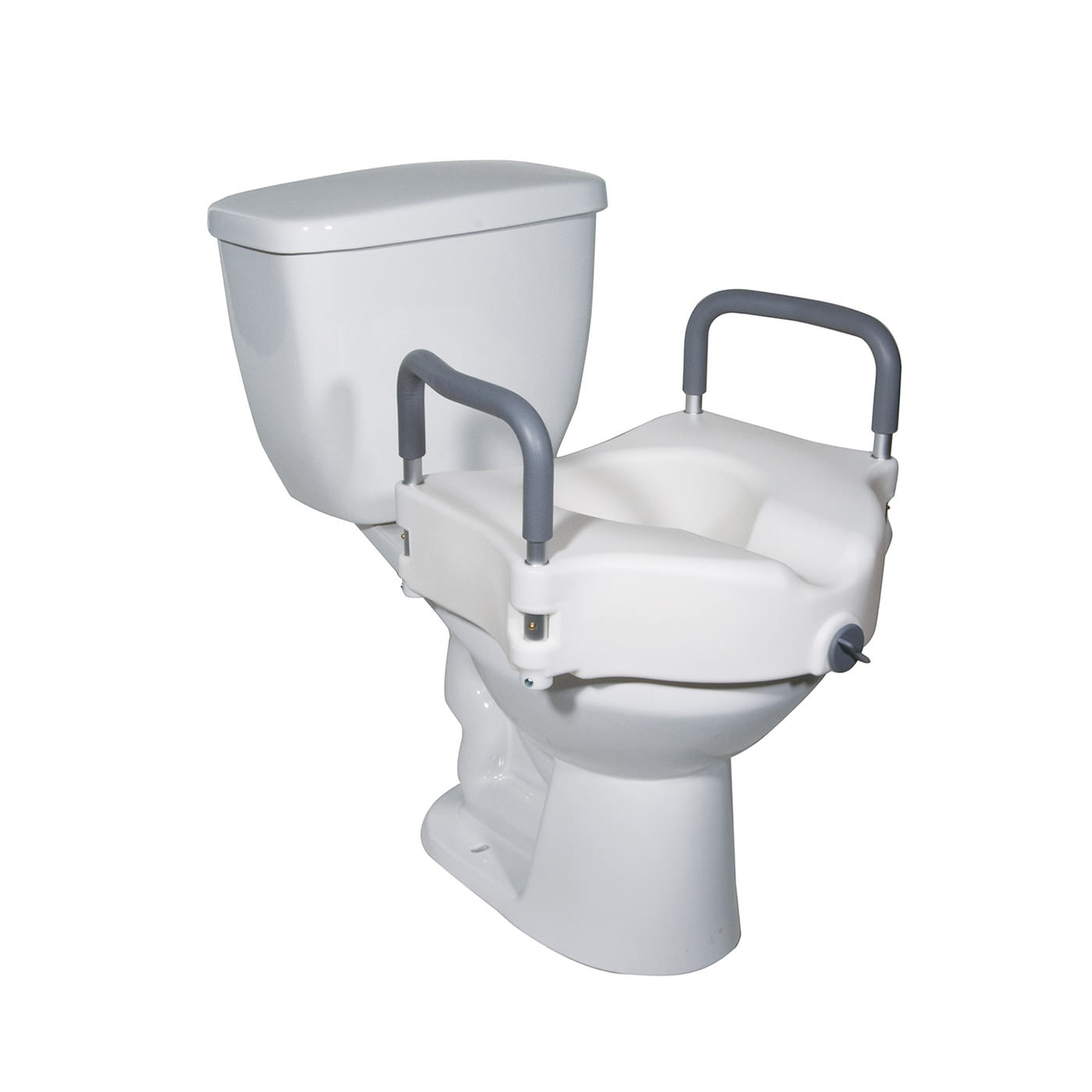 Drive Elevated Raised Toilet Seat with Removable Padded Arms, With Armrests