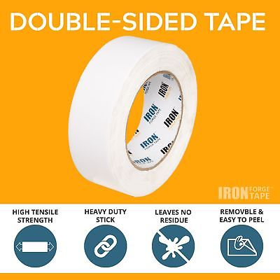 Removable Double Sided Tape, Clear 3 Pack - 1 inch x 20 Yards Two Sided Remov...
