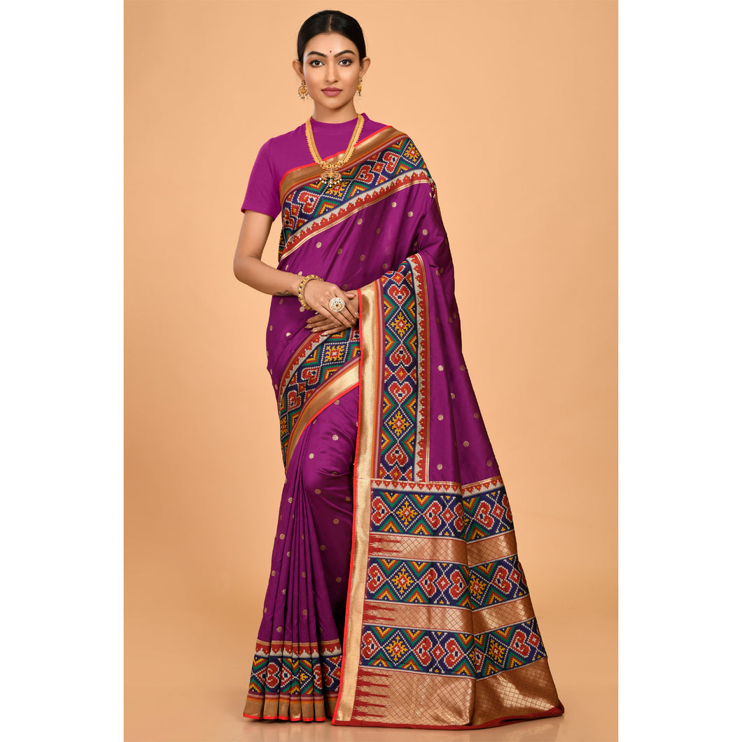 Powerloom Silk covered with Zari bootis Saree- DD-P1-S513
