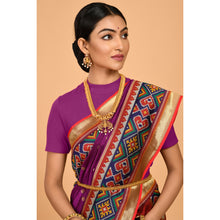 Load image into Gallery viewer, Powerloom Silk covered with Zari bootis Saree- DD-P1-S513