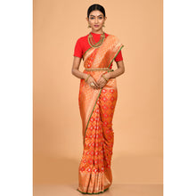 Load image into Gallery viewer, Flower motifs covering Banarasi Saree- DD-P1-S511