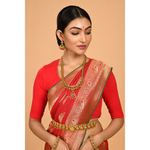 Load image into Gallery viewer, gorgeous Red Silk Saree- DD-P1-S533