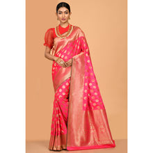 Load image into Gallery viewer, Gorgeous Bright Pink Magenta and Golden Colored Banarasi Silk Saree- DD-P1-S512