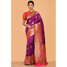 Load image into Gallery viewer, Bright Purple color Saree- DD-P1-S526