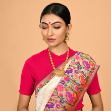 Load image into Gallery viewer, Trendy Cream Paithani Saree- DD-P1-S525