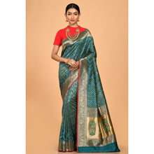 Load image into Gallery viewer, Powerloom Silk covered with Zari Saree- DD-P1-S510