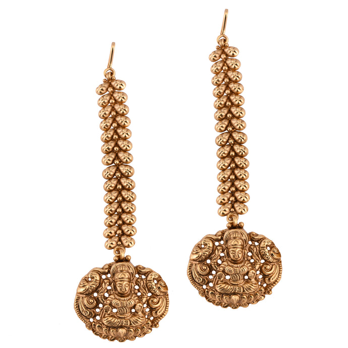 Goddess Lakshmi Long Earrings