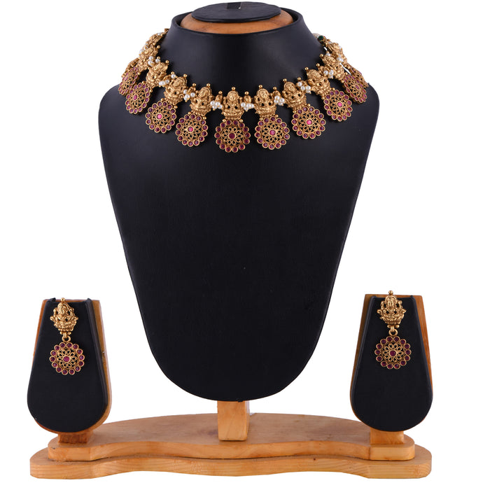 Temple Jewellery- Necklace (DD-R1N505R)