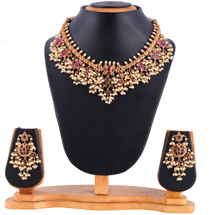 Temple Jewellery- Necklace (DD-S1N502)