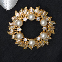 Load image into Gallery viewer, Floral Pearl Stone Studded Brooch