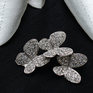 Butterfly Cut Stone Studded Brooch