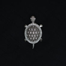Load image into Gallery viewer, Turtle Shaped Stone Studded Brooch