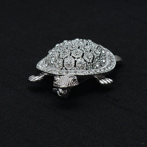 Turtle Shaped Stone Studded Brooch