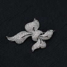 Load image into Gallery viewer, Ribbon Knot Stone Studded Brooch