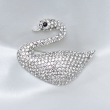 Load image into Gallery viewer, White Swan Stone Studded Brooch