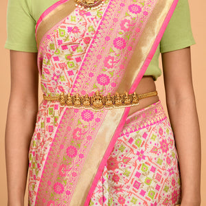 Green and Pink Patola Saree- DD-P1-S522