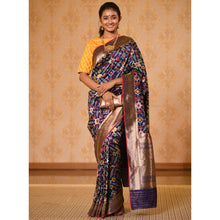 Load image into Gallery viewer, Navy Patola Silk Saree with Zari - DD-P1S503