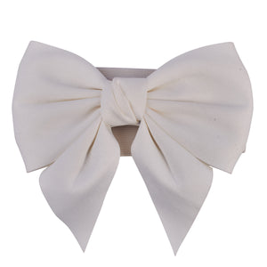 Bow Big Belt White