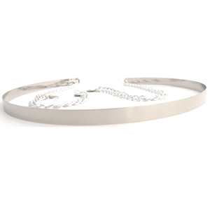 Silver Metallic Chain Belt