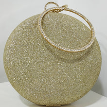 Load image into Gallery viewer, Glitter Frosted Evening Clutch - Round