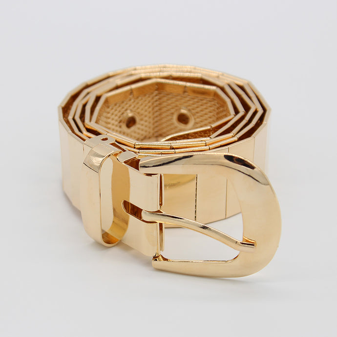 Golden Pin Hole Buckle Belt