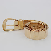 Load image into Gallery viewer, Golden Pin Hole Buckle Belt