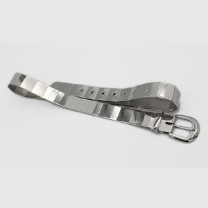 Silver Pin Hole Buckle Belt