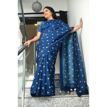 Load image into Gallery viewer, Organza Saree with Floral Pattern- DD-U1S701
