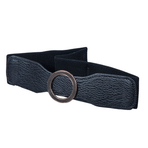 Round Buckle Belt - Artificial Leather