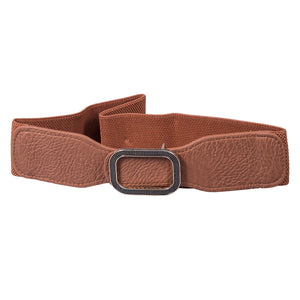 Rectangle  Buckle Belt - Artificial Leather