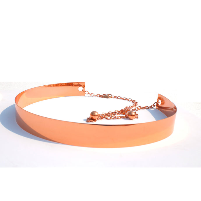Rose Gold Metallic Belt