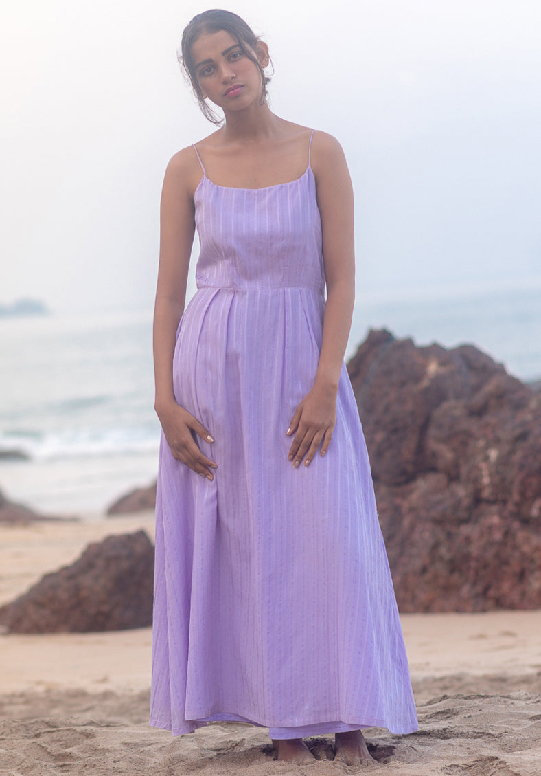 Purple soak dress