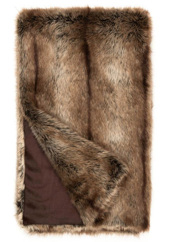 Faux Fur Throw Limited Edition, Tipped Coyote