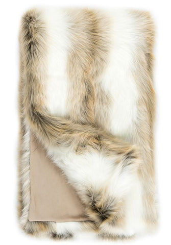 Faux Fur Throw Limited Edition, Arctic Fox